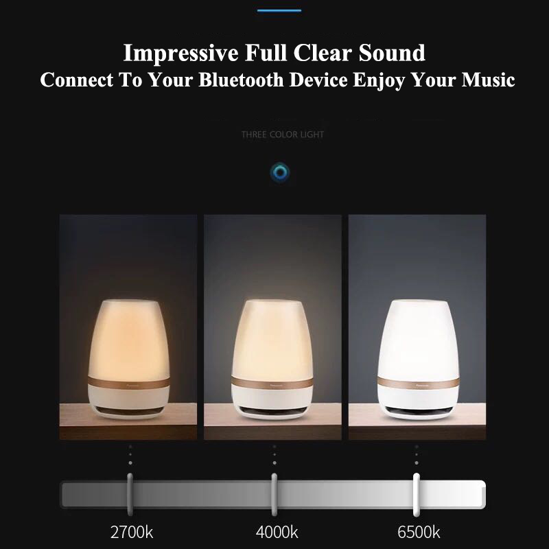 Panasonic haut parleur tactile capteur Bluetooth haut parleur lumière télécommande sans fil LED veilleuse intelligente musique lampe de Table - 3