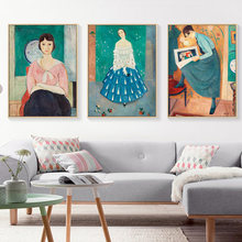 Картина на холсте для молодых женщин постер с принтом гостиной