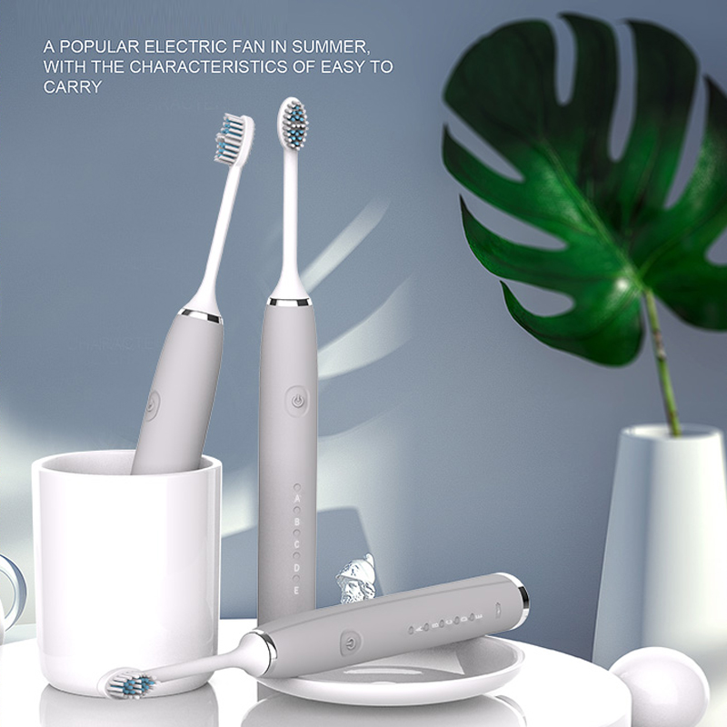 Sonic Electric Toothbrush With 3 Replacement Brush Heads Ultrasonic Rechargeable Electronic Teeth Brush Top Quality Smart Chip