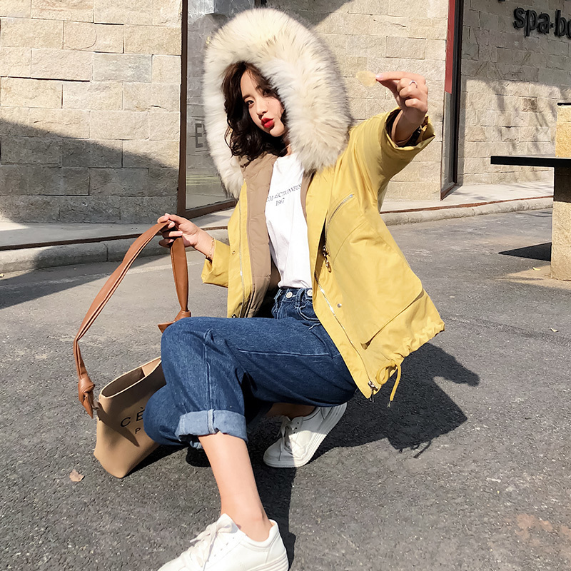 Jacket Down Women's Real Raccoon Fur Collar Korean Jackets Winter Jacket Women Warm Coat Female Parkas Mujer 2020 MY3534 S