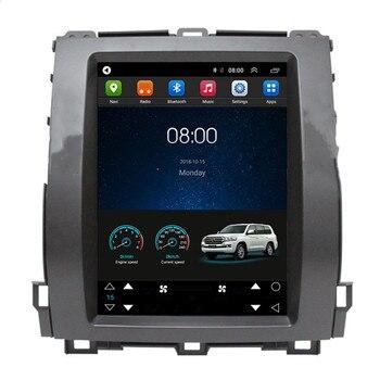 10,4 Tesla вертикальный Android автомобильный мультимедийный Стерео DVD GPS-навигатор для Toyota Land Cruiser Prado 120 2002 2003 2004 205