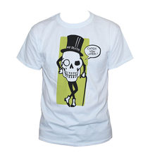 Mr Death Skull T-shirt Goth Grappig Citaat Party Grafische Gedrukt Retro Tee Unisex Gym Tee T-shirt(China)