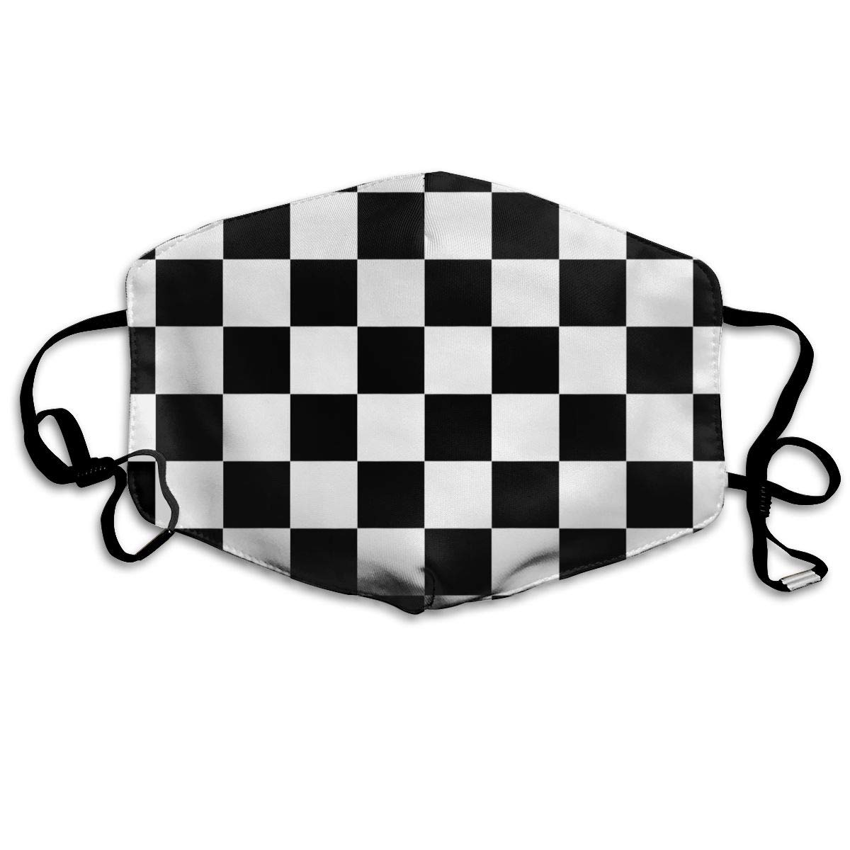 Garde Art Studio Mask Can Be Washed Reusable Mouth Mask, Funny Anti-Dust Face Masks, Race Waving Checkered Flag Ski Cycling