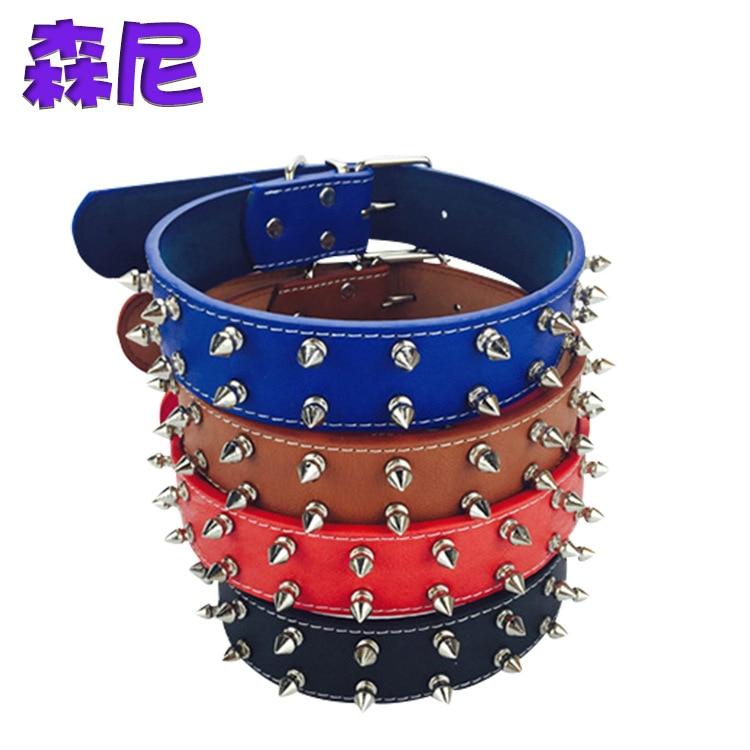 New Style Pet Collar Dog Rivet Neck Ring Anti-Bite Cat Neck Collar Golden Retriever Dog Collar Medium Large Dog Neck Ring