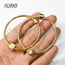 10pcs bangle bracelets with cubic  beads bangles mix zircon charm accessories bangles bracelets jewel for women 56276
