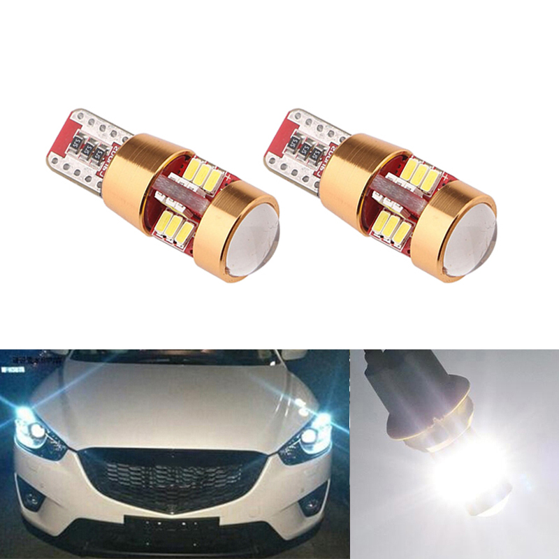 2x Canbus T10 W5W 168 194 <font><b>LED</b></font> Clearance Parking Lights For <font><b>Mazda</b></font> 323 626 cx-5 3 <font><b>6</b></font> 8 Atenza cx7 cx-7 mx5 cx3 rx8 cx5 image