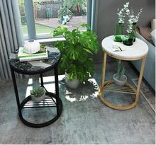 цена на Nordic sofa side marble corner several modern minimalist small coffee table living room mini side table balcony small round tabl