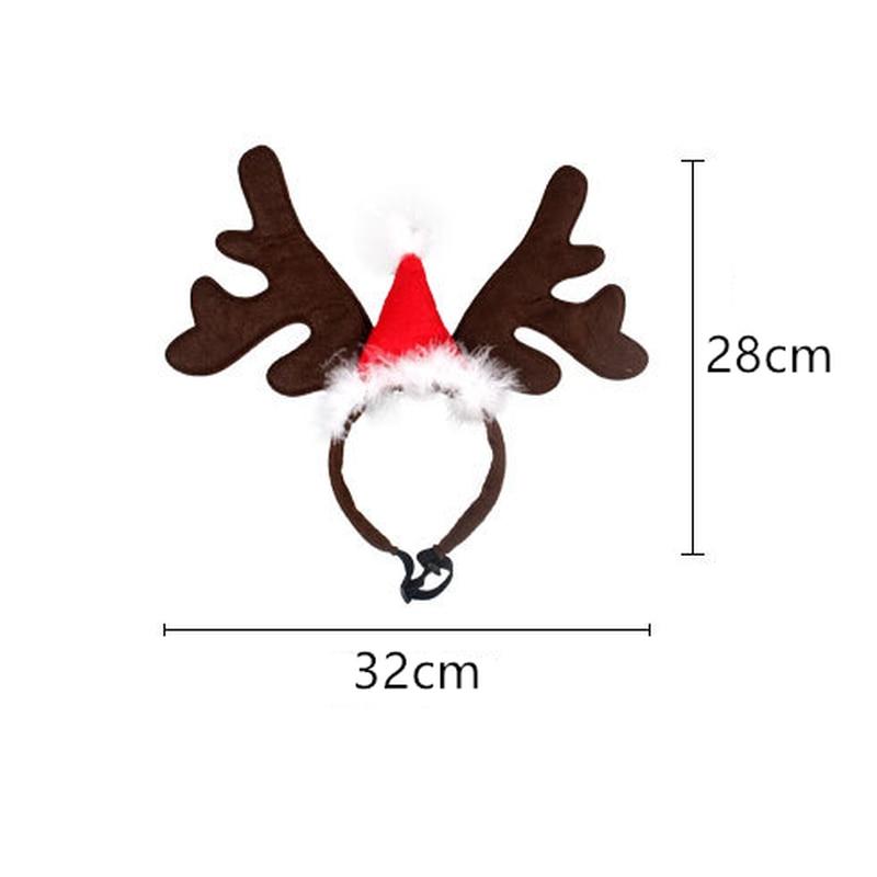 Kerst Huisdier Hoofdband Herten Hoorn Hoed Kostuum Hond Puppy Kat Cosplay Party Product Hoofddeksels Caps Hoed voor Hond Katten