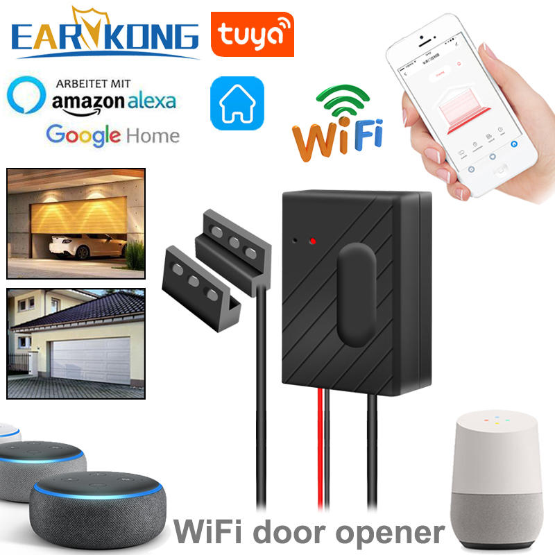 Door-Opener Wifi Garage Smart-Gate Alexa Controllor Android-App Compatible Google Home