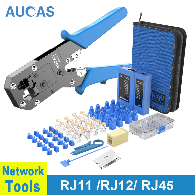 Обжимные Щипцы AUCAS Rj45 Lan тестер кабельный трекер Mikrotik обжимные инструменты сетевое оборудование Krimptang Noyafa Naruto RJ11 проводка