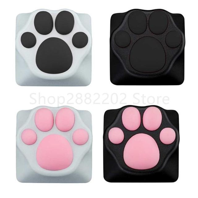 אישיות מותאם אישית ABS סיליקון קיטי Paw Artisan חתול כפות כרית מקלדת keyCaps עבור דובדבן MX מתגים