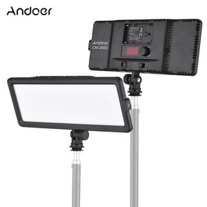 Image 1 - Andoer סופר דק LED וידאו אור לוח 3200 K 5600 K דו צבע Dimmable בהירות עם קר נעל הר עבור Canon Nikon Sony DSLR
