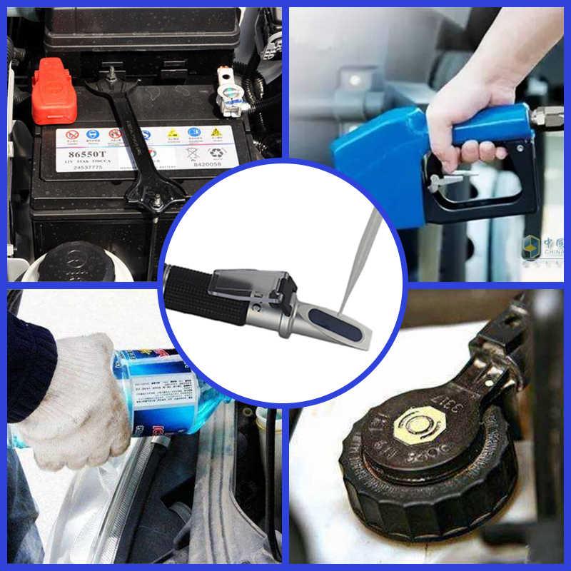 כף יד Antifreez Refractometer נקודת קיפאון אוריאה Adblue סוללה נוזל זכוכית מים בודק כלי 4 ב 1 עם ATC