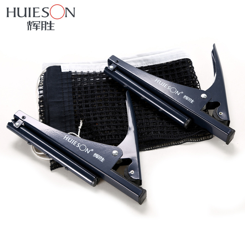 Huieson 1 Set Professional Standard Table Tennis Mesh Net With Clamp Ping Pong Table Net Rack Kit Table Tennis Accessories