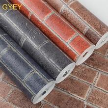 цены 10M 3D Chinese Retro Simulation Brick Wallpaper Red Brick Blue Brick Gray Brick Antique Brick Brick Background Wall Paper