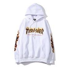 Autumn and winter sportswear sweatshirts men's sportswear printing fashion hip-hop men's sweatshirts plus velvet warm top 3XL