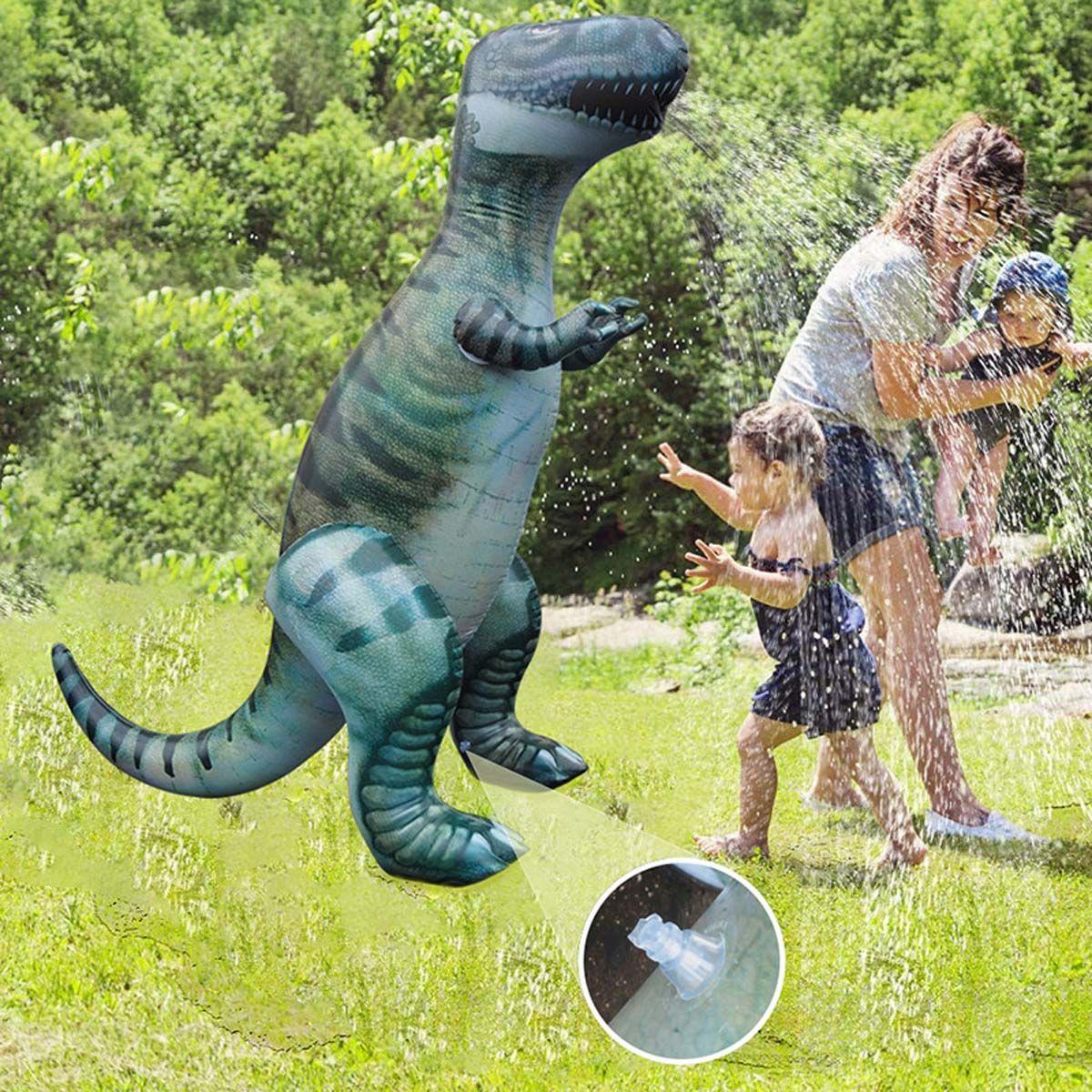 180cm Summer Inflatable Water Sprayer Toys Kids Water Splash Play Toy Water Jet Dinosaur Model Yard Outdoor Fun PVC Material