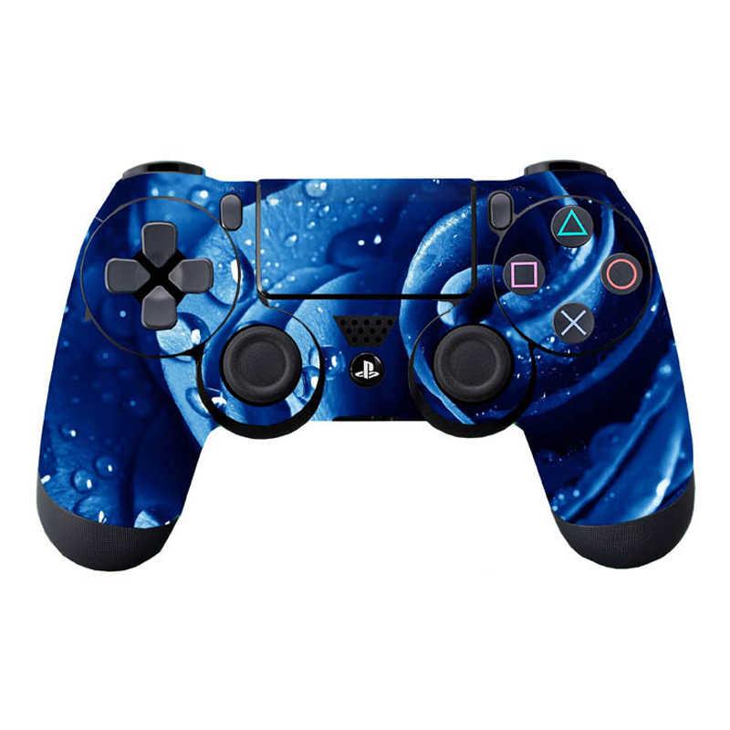Naklejki na skórę winylową na kontroler PS4 antypoślizgowe ochraniacze skóry dekoracyjne nakładki na Sony Playstation 4 na PS4 Slim Pro Gamepad