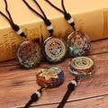Orgonite кулон Om символ ожерелье чакра исцеляющее ожерелье с положительной энергетикой ювелирные изделия для медитации ручной работы Професси...