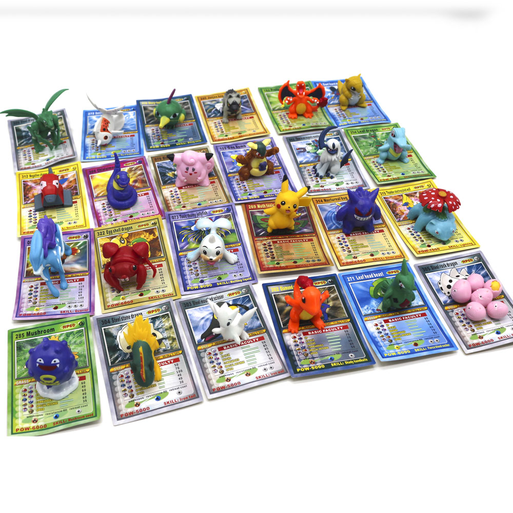 TAKARA TOMY Pokemon Dolls With Cards Collection Toys For Children Battle Trading Figure Card Game Gold Cards Action Figures