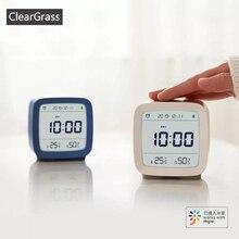 재고 있음 Youpin Cleargrass 블루투스 알람 시계 스마트 컨트롤 온도 습도 디스플레이 LCD 화면 조정 가능한 야간 조명