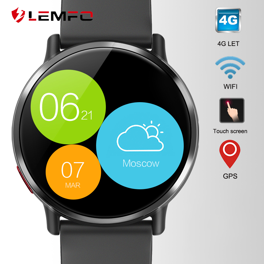 "LEMFO LEM X Android Smart Watch Phone 4G LTE 1GB + 16GB 2.03"" Screen GPS Wifi Men Smartwatch with 8MP Camera 900mAh Battery"
