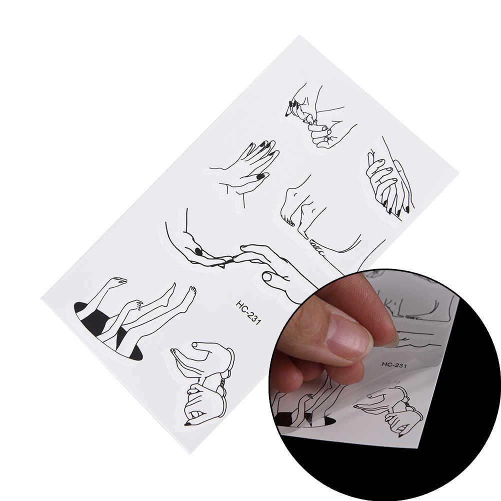 אמנות סקסי עמיד למים זמני קעקוע מזויף פלאש קעקוע מדבקת אצבעות הבהונות גוף