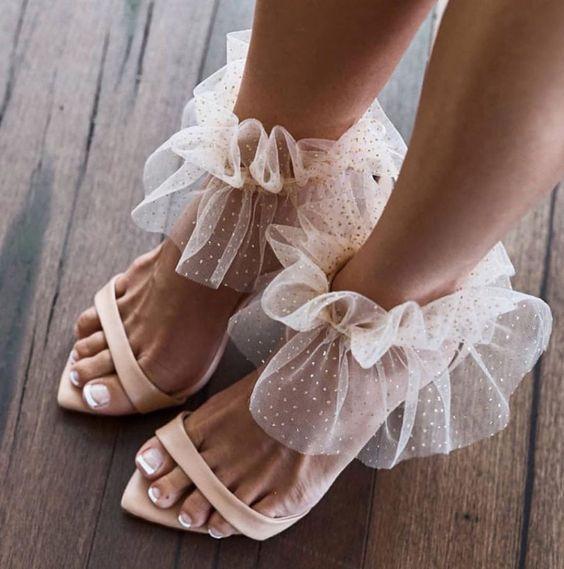 Women Wedding Sandals Shoes Pointed Toe Sandals Gladiator Shoes Thin High Heel Elegant Bride Shoe Plus Size 45 46