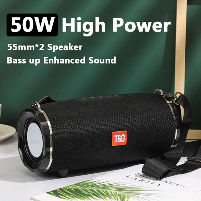 Bluetooth Speaker TG187 High Power 50W  Speakers Subwoofer Boom Box 3