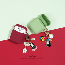 Headphone-Cases Apple Airpods Spirited Studio No-Face Ghibli Cartoon Silicone-Protection