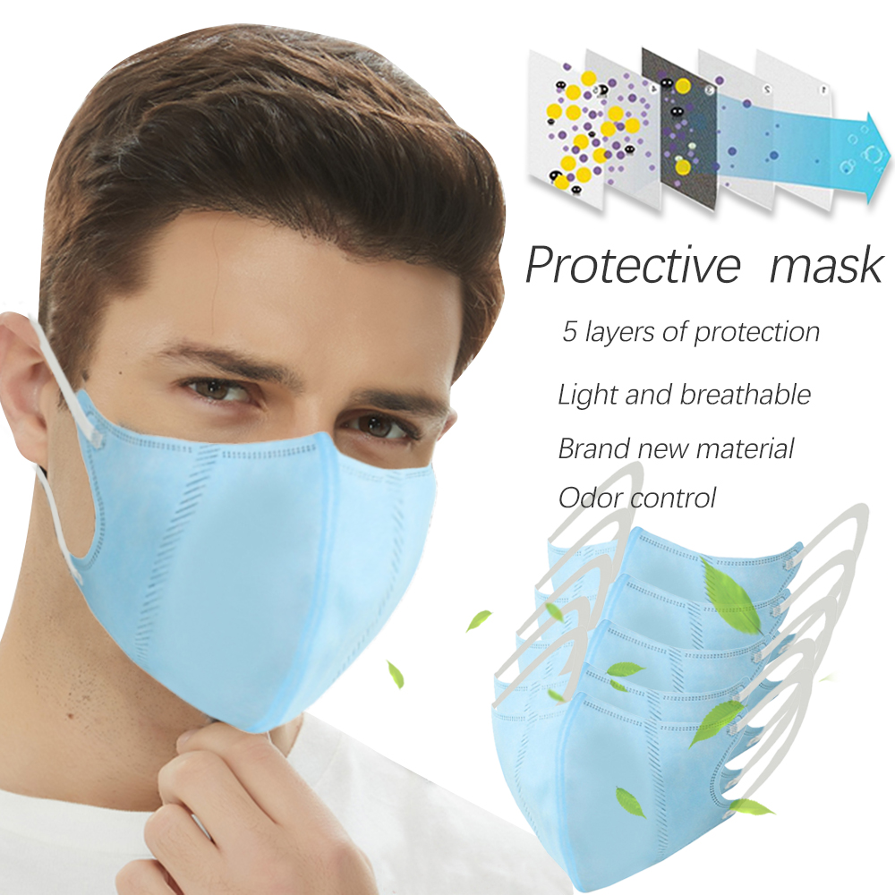 5pc PM2.5 Mouth Mask High Quality  Anti Dust Mask Windproof Mouth-muffle Bacteria Proof Flu Face Masks