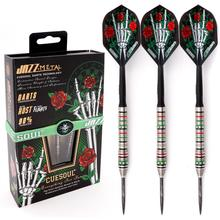 CUESOUL JAZZ METAL 21/23/25g Steel Tip 90% Tungsten Dart Set with Integrated ROST Dart Flights and Wristband
