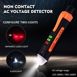 Medidor inteligente de voltagem, com caneta infravermelha, detector de corrente ac, alarme, teste de corrente, com lanterna, novo, 2020