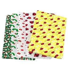 Joaninha bugs abelha borboleta poliéster algodão tecido de costura estofando tecidos needlework material diy feito à mão pano, 1yc13758