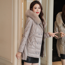 Women Down Jacket Korean Fashion Woman PU Leather Coat Jackets Plus Size Puffer Windbreaker