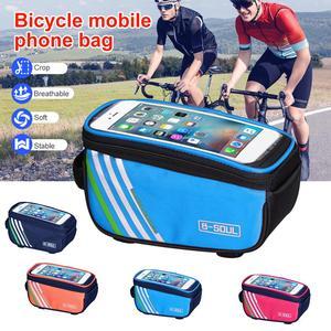 Аксессуары для велосипедов Водонепроницаемый сенсорный Экран MTB, крепящаяся на переднюю раму для хранения Горный Дорожный Велосипед сумка ...