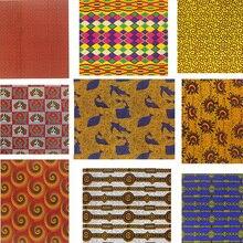 New Top African Teal Wax Print High Quality  Fabric Cotton Material Nigerian Satin Ankara Batik White Sewing Dre