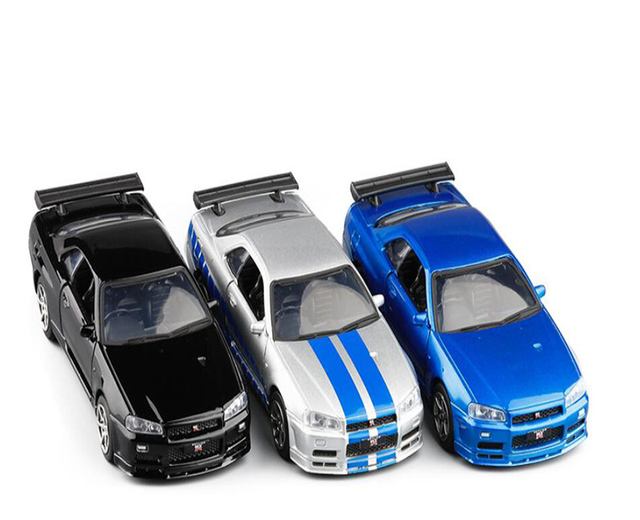 1-36-Alloy-Toy-Car-Vehicle-Nissan-GTR-R34-Sports-Car-Metal-Production-Model-Collection-Display