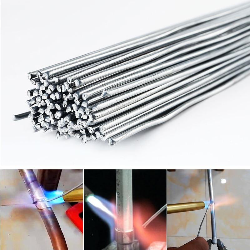 10/20/30/50PCs Need Solder Powder Aluminum Welding Brazing Rod 1.6/2/3.2mm Low Temperature Wire Flux Cored No Bundle Storage Box