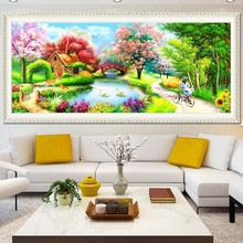 Youran 5D DIY Diamond Mosaic Painting Europe Style House Garden Landscape Full Drill Beads Embroidery Kit Home Decoration Craft