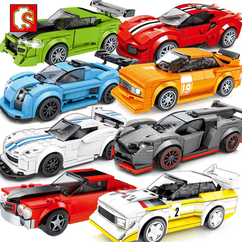 Sembo City Vehicles Speed Champions Sports Racing Car Model Building Blocks Super Racers Figures Moc Construction Toys Technical 1