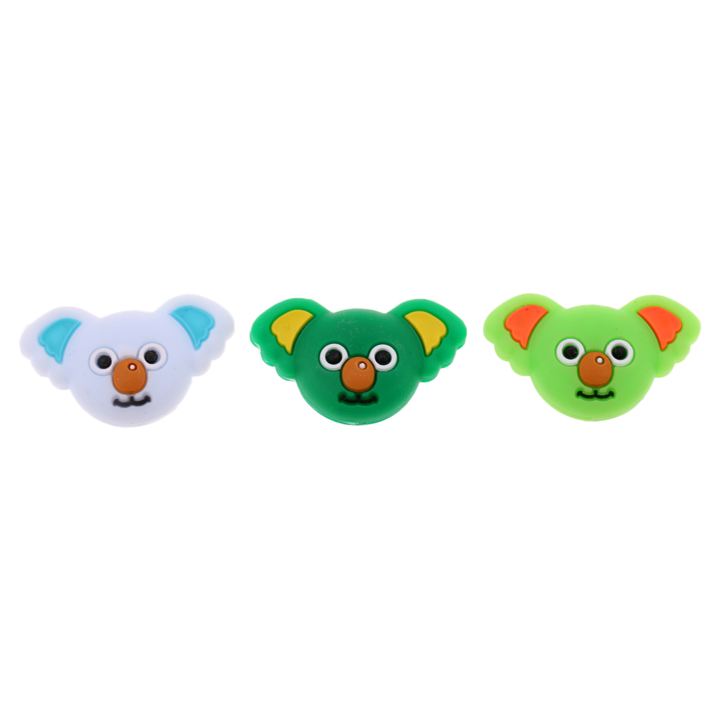 3 Pieces Koala Pattern Tennis Racquet Vibration Dampener Damper Tennis Accessories Gifts