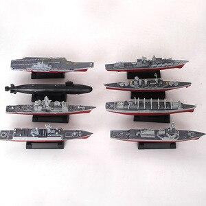 8Pcs Military Warship Montage Gebäude Modell Kit Puzzle Spielzeug Für Kinder Jungen Cruiser Destroyer Nuclear Submarine Brinquedos