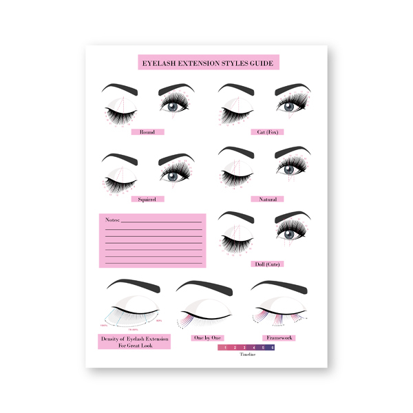 eyelash extension guide posters print lash extension form beauty salon wall art canvas painting decor eyelash technician forms
