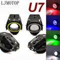 For Honda CRM 250R CRF450R 250X  450X 230F CR125R 450R Motorcycle 125W Headlight 3000LM Low Beam Flash U7 LED Spotlight