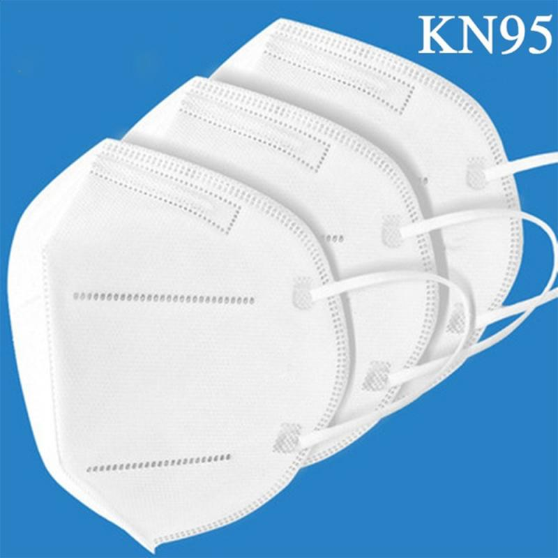 1/2/5/10/30/50Pcs KN95 Fabric Face Mask Anti Dust Bacterial Mask 6-Layer PM2.5 Dustproof Protective 95% Filtration Mouth Mask