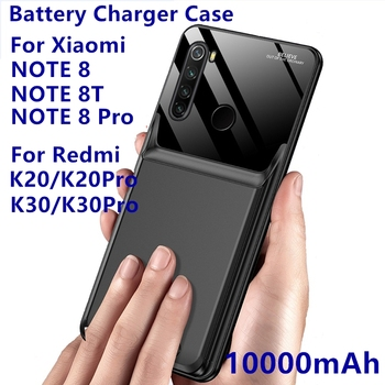 Power Bank 10000Mah For Xiaomi Redmi Note 8T Note 8 8 Pro Battery Case External Backup Charger Case For K20 K20 Pro K30 K30 Pro image
