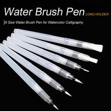SeamiArt 6 шт., портативная кисть для рисования, водная кисть, карандаш, мягкая водная Цветная кисть, ручка для начинающих, краски, рисование, товары для рукоделия