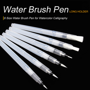 SeamiArt 6PCS Portable Paint Brush Water Color Brush Pencil Soft Watercolor Brush Pen for Beginner Painting Drawing Art Supplies