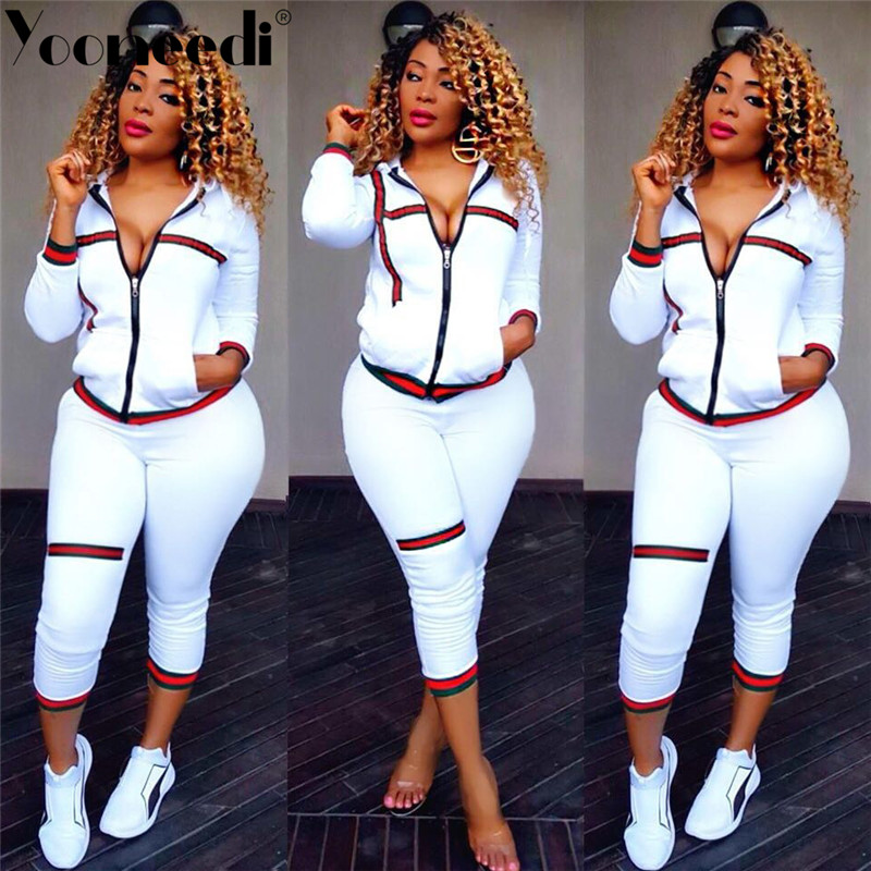 Yooneedi 2019 Autumn Design Casual 2 pcs Women Set 5 Color Solid Ribbon O-neck Full Sleeve Tops Long Pants Tracksuits WYM-6656